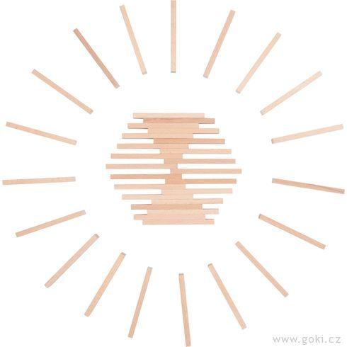 Stavební kostky přírodní, 200ks - Goki