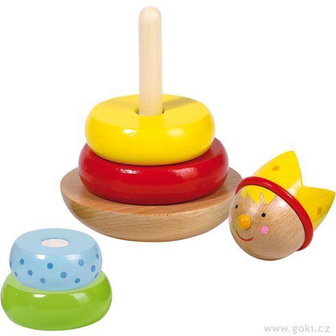 Princ – skládačka věž, motorická hračka - Goki