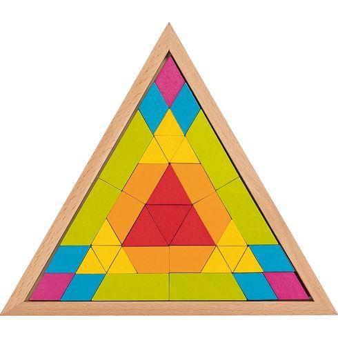 Skládačka mozaika – trojúhelník, 37dílů - Goki