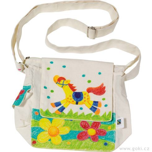 Fair trade výrobek – Bavlněná taška přes rameno kvymalování - Goki
