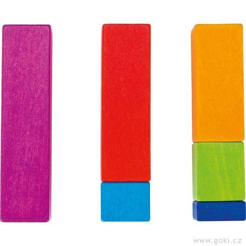 Učíme sepočítat – stavební kostky, 100dílů - Goki