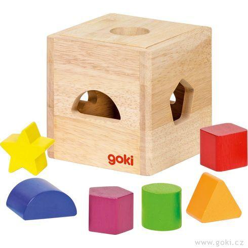 Dřevěná vkládačka II– tvary - Goki
