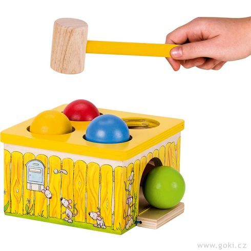 Dřevěná zatloukačka – Chyť myšku! - Goki