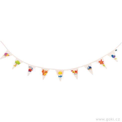 Fair trade výrobek – Bavlněné vlaječky kvymalování - Goki