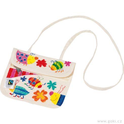 Fair trade výrobek – Bavlněná peněženka kvymalování - Goki