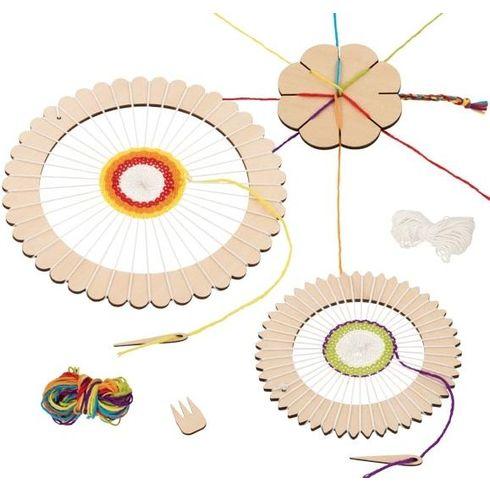 Setprotvoření –kulatý tkalcovský rám +kytka - Goki