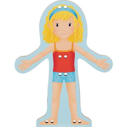 Provlékací panenka – šatní skříň sfilcem, 30dílů - Goki