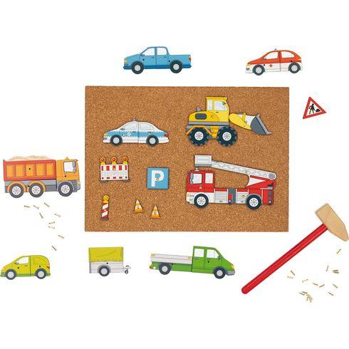 Zatloukačka autíčka, 68dílů - Goki
