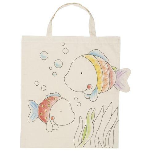 Bavlněná taška kvymalování – Rybky - Goki