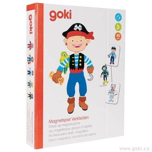 Magnetická hra– Převleky kluk - Goki