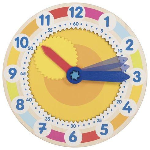 Dřevěné výukové hodiny sozubeným kolem - Goki