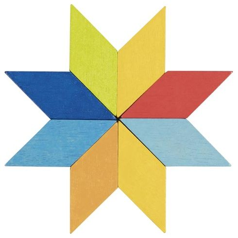 Dřevěný hlavolam – Mozaika, 44díly - Goki