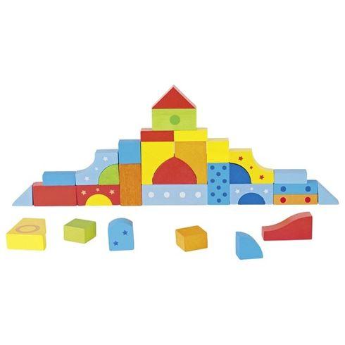Puzzle astavební kostky pastelové barvičky, 39dílů - Goki