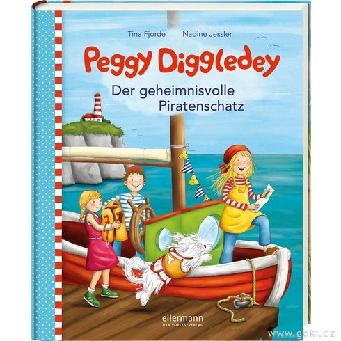 Knížka proděti Peggy Diggledey – Tajuplný pirátský poklad - Goki