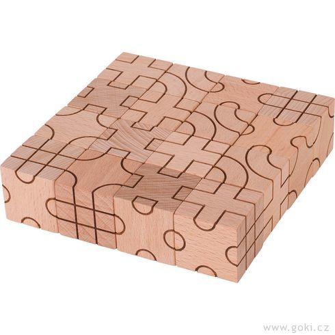 Stavební kostky – Geometrie, 16dílů - Goki