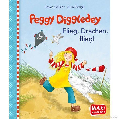 Maxi obrázková knížka Peggy Diggledey – Leť, dráčku, leť - Goki