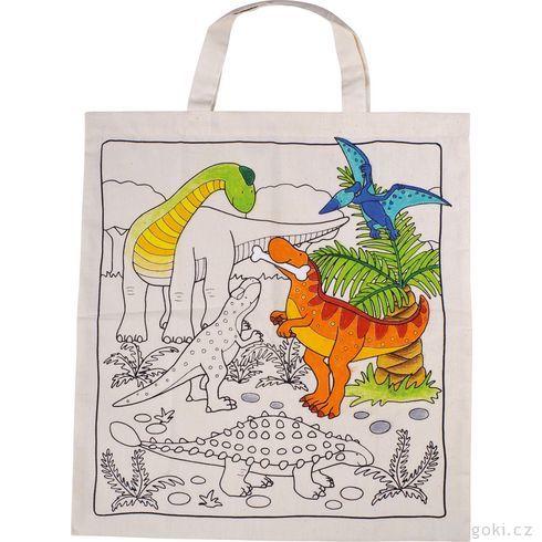 Bavlněná taška kvymalování – Dinosauři - Goki