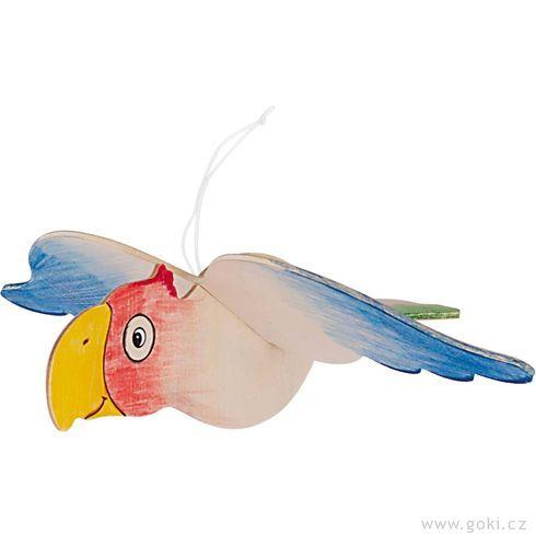 Závěsné dekorace kvymalování dráček, letadlo, motýl, papoušek - Goki