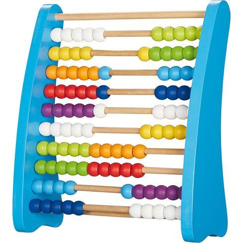 Počítadlo se100dřevěnými perličkami barevné - Goki