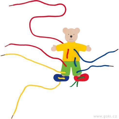 Provlékací hračka – Medvídek - Goki