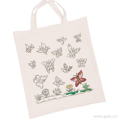 Bavlněná taška kvymalování – Motýli - Goki