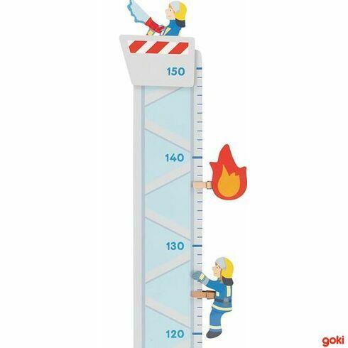 Dětský dřevěný metr –hasiči - Goki
