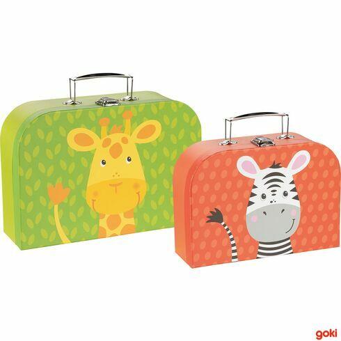 Sada 2dětských kufrů –žirafa azebra - Goki