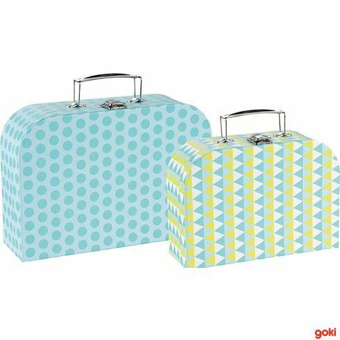 Sada 2dětských kufrů –modré vzory - Goki