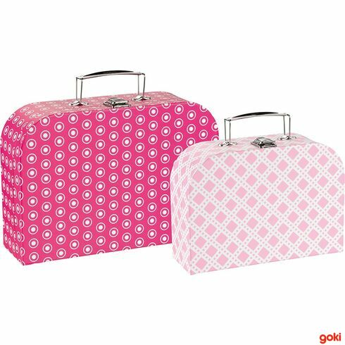 Sada 2dětských kufrů –růžové vzory - Goki