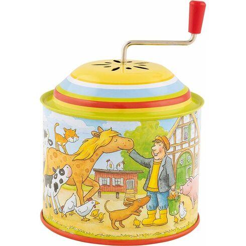 Farma – hrací skříňka skličkou, melodie: OldMcDonald hadaFarm - Goki