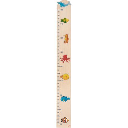 Dětský dřevěný metr – mořská zvířátka - Goki