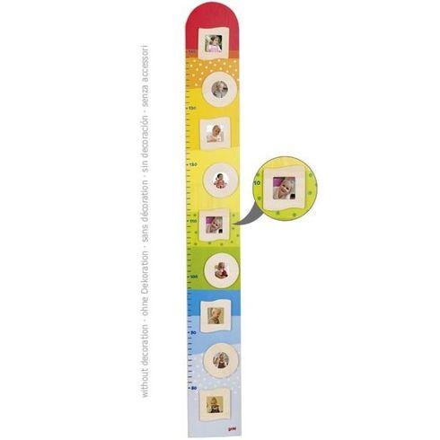 Dětský dřevěný metr – přírodní rámečky nafotky - Goki