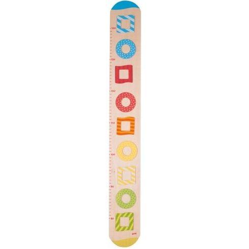 Dětský dřevěný metr – barevné rámečky nafotky - Goki