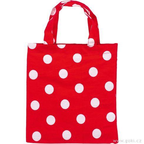 Červená spuntíky – malá taška zbavlny, 4ks - Goki
