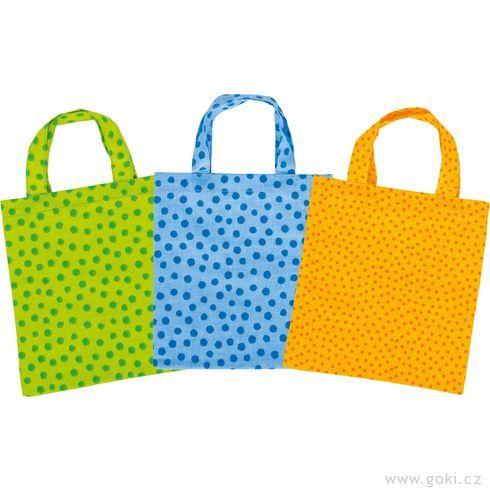 Malé bavlněné tašky, 9ks - Goki