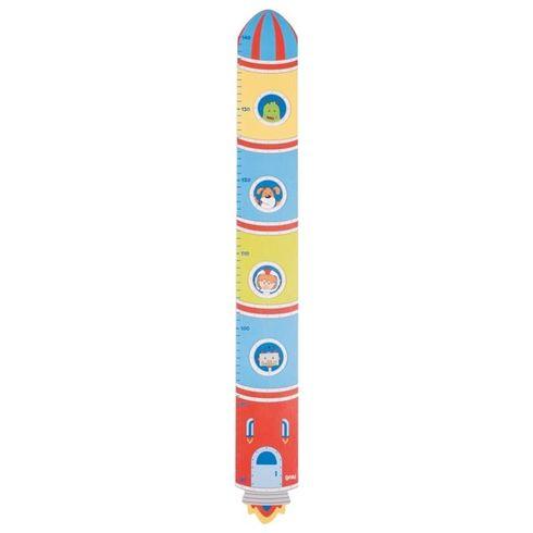 Dětský dřevěný metr – raketa - Goki