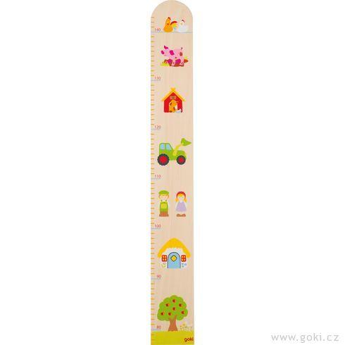 Dětský dřevěný metr – nastatku, 70cm - Goki