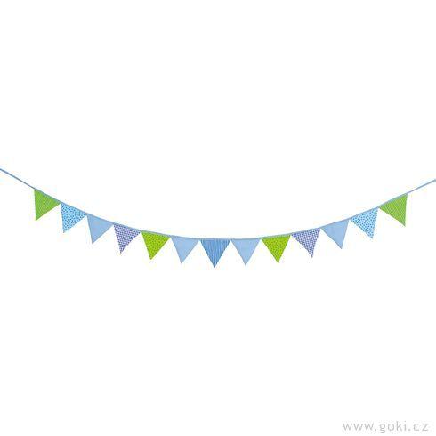 Vlaječky modro-zelené, 220cm - Goki