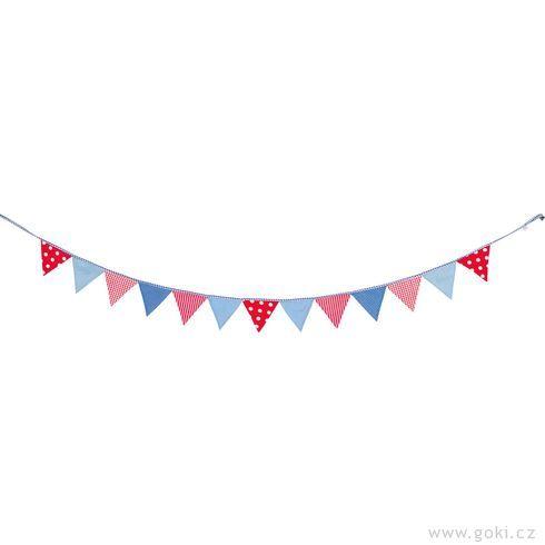 Vlaječky červeno-modré, 220cm - Goki