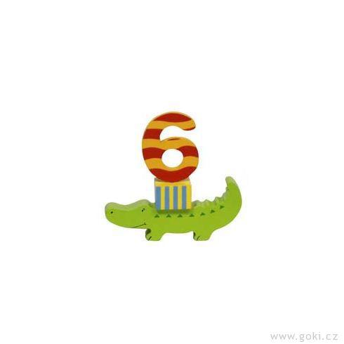 Narozeninová dekorace – veselá zvířátka zedřeva - Goki