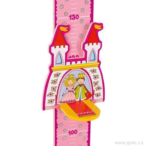 Dětský dřevěný metr – princ aprincezna - Goki