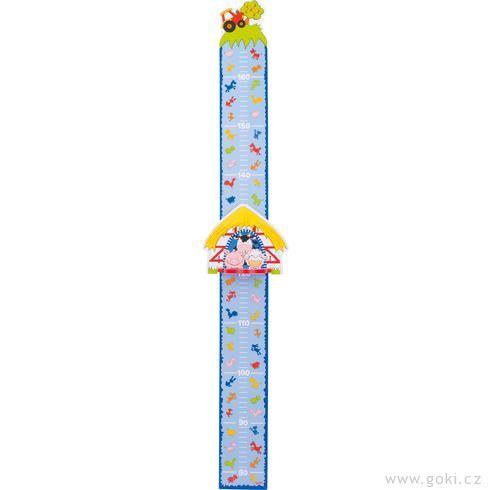 Dětský dřevěný metr – farma - Goki