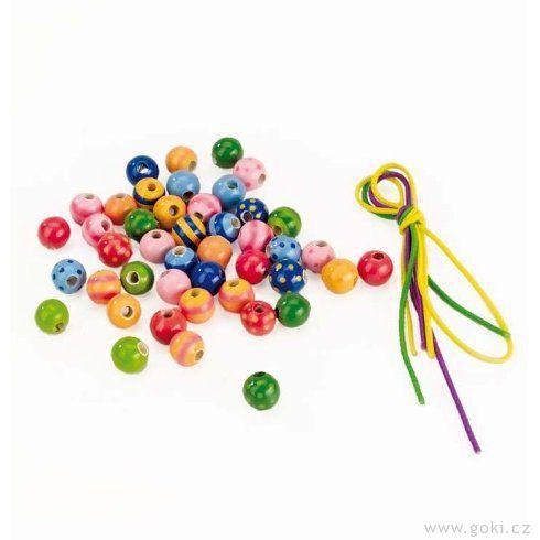 Sada dřevěných perel - Goki