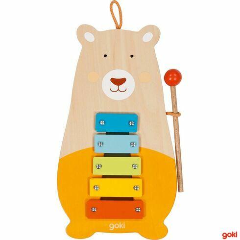 Xylofon medvěd, 5tónů - Goki