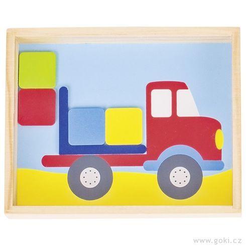 Slůně anákladní auto – motorická hra - Goki