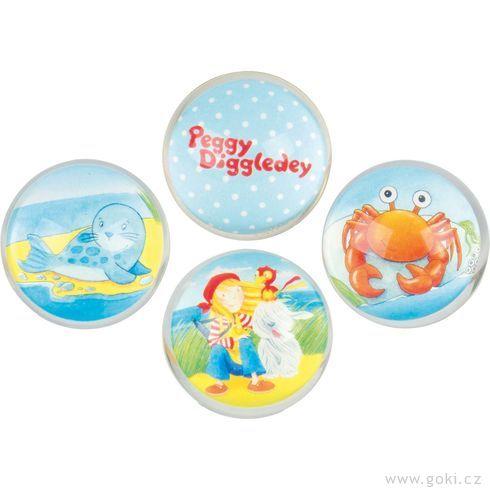 Skákací míček – Peggy Diggledey, 4,5cm - Goki