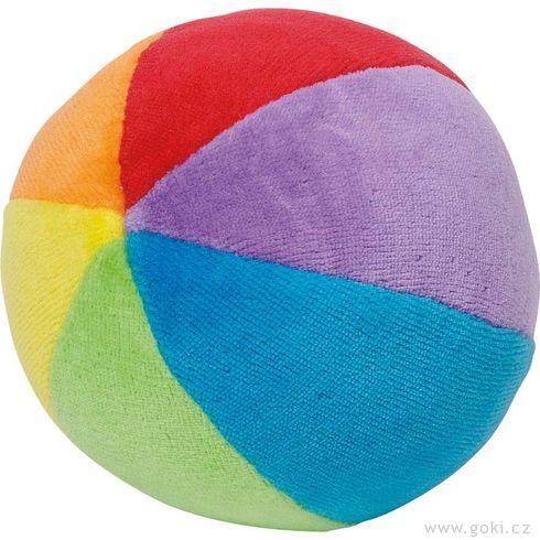Plyšový duhový míček schrastítkem pronejmenší - Goki