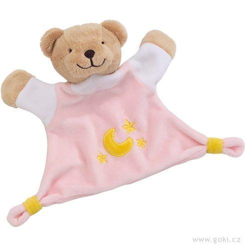 Mazlivá hračka usínáček – Růžový medvídek - Goki