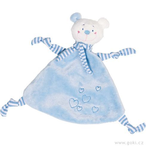Mazlivá hračka usínáček – Modrý medvídek sesrdíčkem - Goki