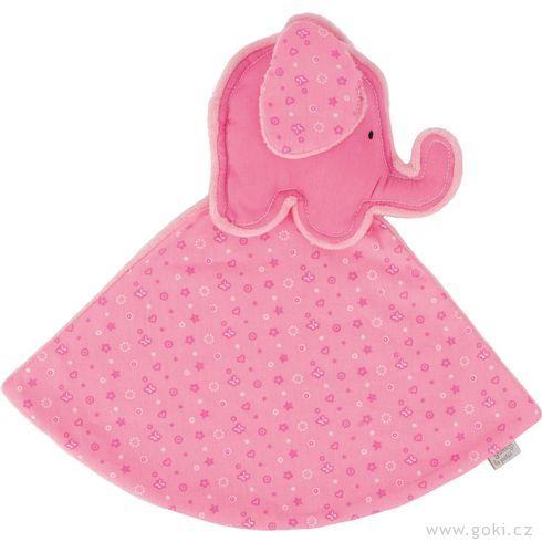 Slůně – růžový mazlíček usínáček - Goki
